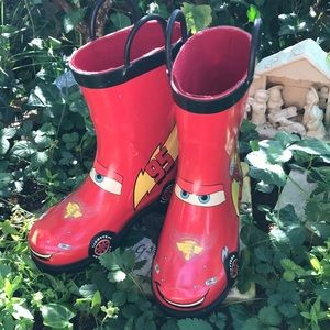 Disney Pixar Cars Lightning McQueen Red Rain Boots
